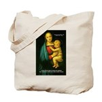 Raphael Madonna Painting Tote Bag
