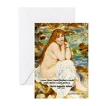 Renoir Impressionist Nude Greeting Cards (Package