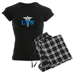 LPN Symbol Women's Dark Pajamas Lounging Comfy Pants and Tee's