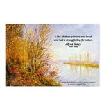 Alfred Sisley Nature Quote Postcards (Package of 8