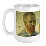 Vincent Van Gogh Quote Large Mug