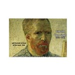Vincent Van Gogh Quote Rectangle Magnet