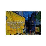 Vincent Van Gogh Color Art Rectangle Magnet (10 pa