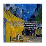 Vincent Van Gogh Color Art Tile Coaster