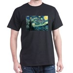 Starry Night Vincent Van Gogh Black T-Shirt