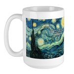 Starry Night Vincent Van Gogh Large Mug