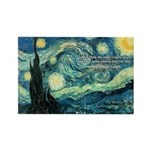 Starry Night Vincent Van Gogh Rectangle Magnet