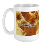 Van Gogh Painting & Quote Large Mug