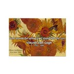 Van Gogh Painting & Quote Rectangle Magnet