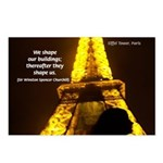 Art Architecture Eiffel Tower Postcards (Package o
