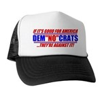 "Anti-Democrats ""NO"" Trucker Hat"