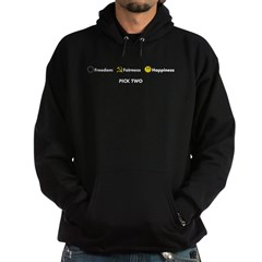 Freedom, Fairness, Happiness: Hoodie (dark)