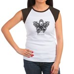 Diabetes Tribal Butterfly Women's Cap Sleeve T-Shi