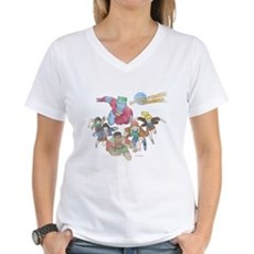 By Our Powers Combined Womens V-Neck T-Shirt