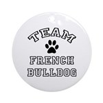 Team French Bulldog Ornament