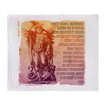 St. Michael Prayer in Latin Stadium Blanket