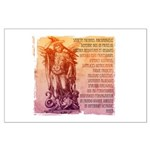 St. Michael Prayer in Latin Large Poster
