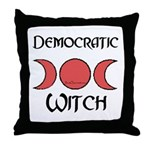 """Democratic Witch"" Throw Pillow"