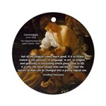Religious Art & Beauty Ornament (Round)
