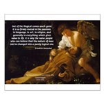Religious Art & Beauty Small Poster