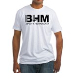 Birmingham Alabama airport code BHM fitted t-shirt