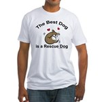 Best Rescue Dog Fitted T-Shirt