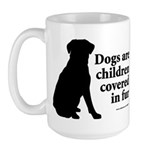 Dog Fur Children Large Mug