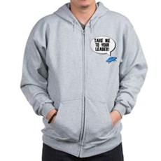 Take Me To Your Leader Zip Hoodie