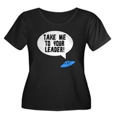 Take Me To Your Leader Womens Plus Size Scoop Nec