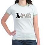 Adopt Homeless Lab Jr. Ringer T-Shirt