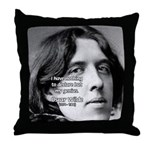 Playwright Oscar Wilde Throw Pillow