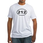 212 New York City Area Code Fitted T-Shirt