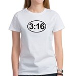 John 3:16 Christian Bible Verse Women's T-Shirt