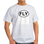 Fly Pilot Flying European Oval Light T-Shirt