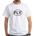 Fly Pilot Flying European Oval White T-Shirt