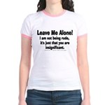 Leave Me Alone! Jr. Ringer T-Shirt