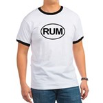 Rum Booze Alcohol Drink Oval Ringer T
