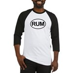 Rum Booze Alcohol Drink Oval Baseball Jersey