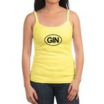 GIN Alcohol Booze Drink Oval Jr. Spaghetti Tank