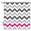 Grey Zig Zag with Hot Pink Shower Curtain