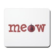 Meow Christmas Cat Mousepad