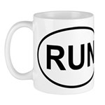 Run Runner Running Track Oval Mug