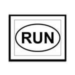 Run Runner Running Track Oval Framed Panel Print