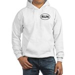 Run Runner Running Track Oval Hooded Sweatshirt