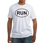 Run Runner Running Track Oval Fitted T-Shirt