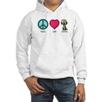 Peace Love & Labs Hooded Sweatshirt