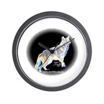 Ghost Wolf Wall Clock