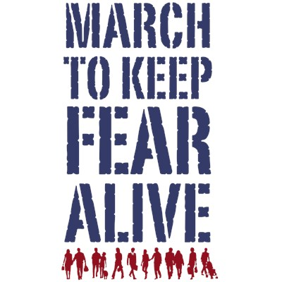 March To Keep Fear Alive T-Shirt for The Rally To Restore Sanity and The March To Keep Fear Alive