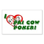 Pai Gow Poker Rectangle Sticker