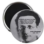 "Erwin Schrodinger: Truth 2.25"" Magnet (10 pack)"